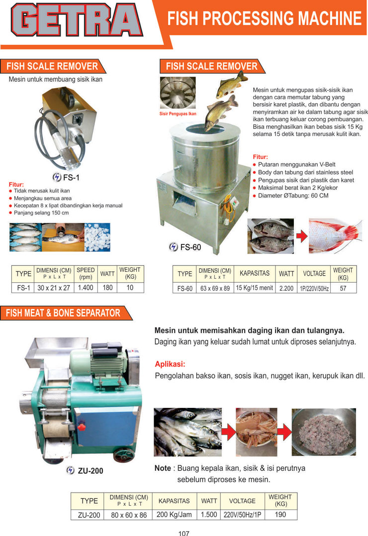 MEAT and FISH PROCESSING EQUIPMENT FS-1