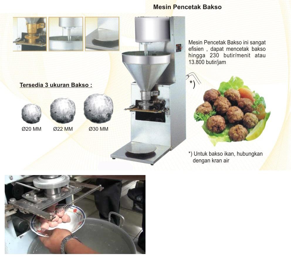 mesin adonan bakso modern
