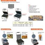 Mesin Grill, Waffel dan Plate Cone