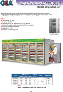 Walk In Display Cooler (Remote Condensing Unit)