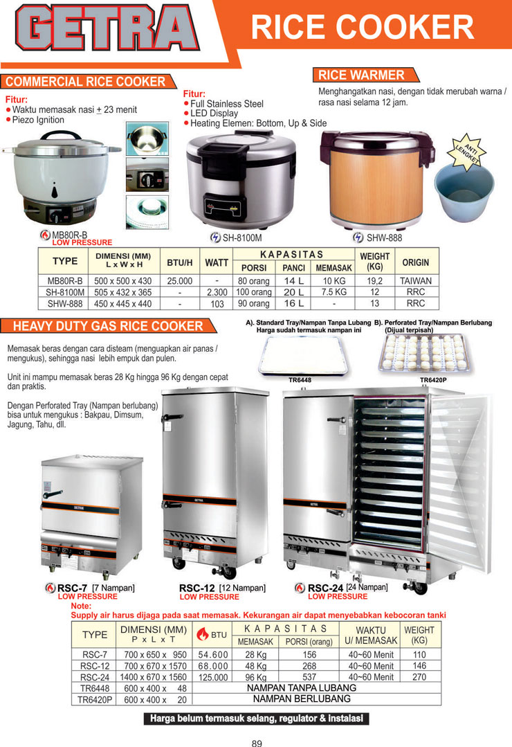 COOKING EQUIPMENT MB80R-B