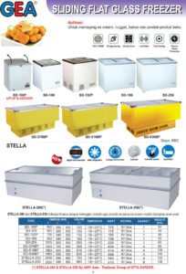 Sliding Flat Glass Freezer (-25ºC)