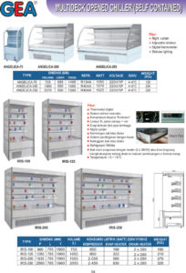 Multideck Opened Chiller (Self Contained)
