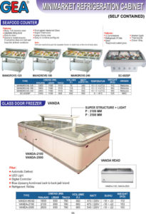 Seafood Counter, Glass Door Freezer (Vanda)