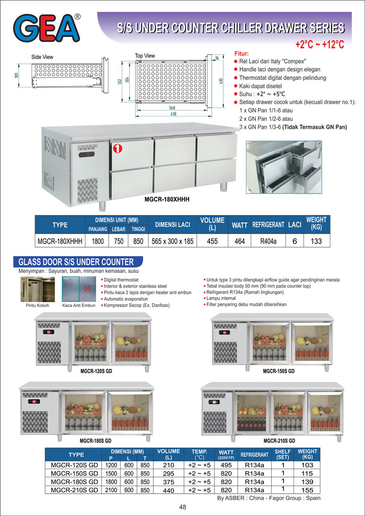 Kitchen-Refrigeration-MGCR-180XHHH