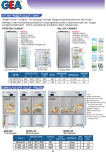 Kitchen Freezer / Chiller Cabinet