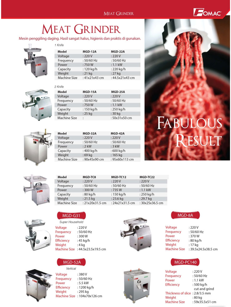 fomac meat grinder