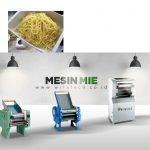 membuat mie dengan mesin mie