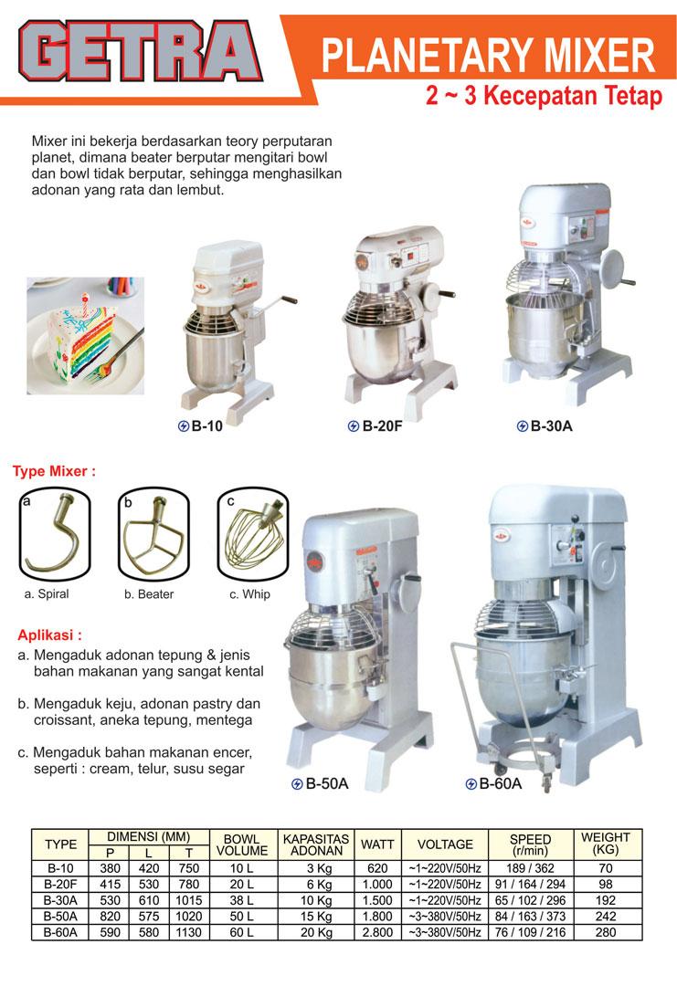 3 Planetary Mixer