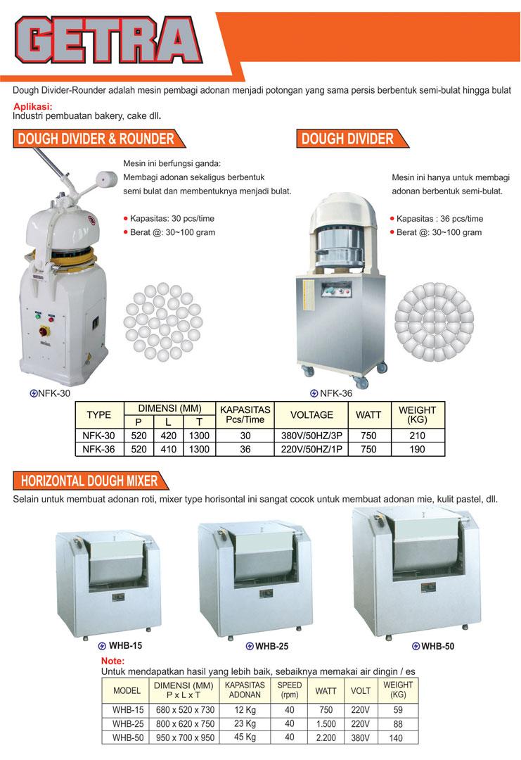 5 Dough Divider, Rounder, Mixer