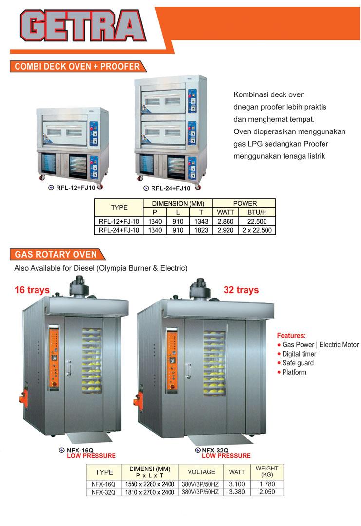 8 Combi Deck Oven dan Proofer