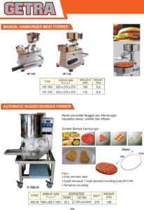 MEAT and FISH PROCESSING EQUIPMENT HF-130