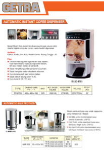 Authomatic Instan Coffee and Milk