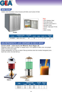 Non Refrigerated Juice Dispenser , Mini Bar