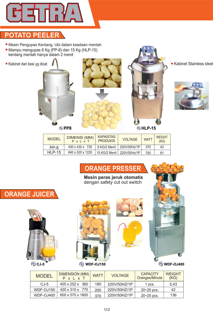 VEGETABLE PROCESSING EQUIPMENT CJ-5