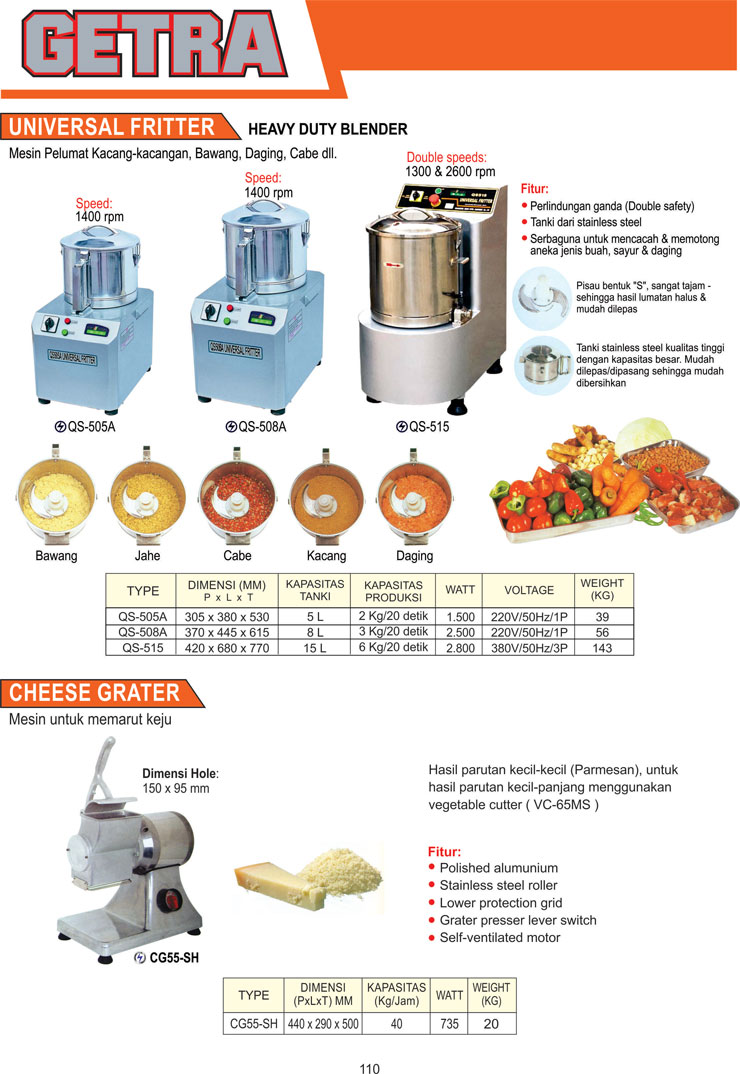 VEGETABLE PROCESSING EQUIPMENT QS-515