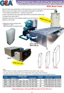 Commercial Ice Block Machine (with Brine Tank)
