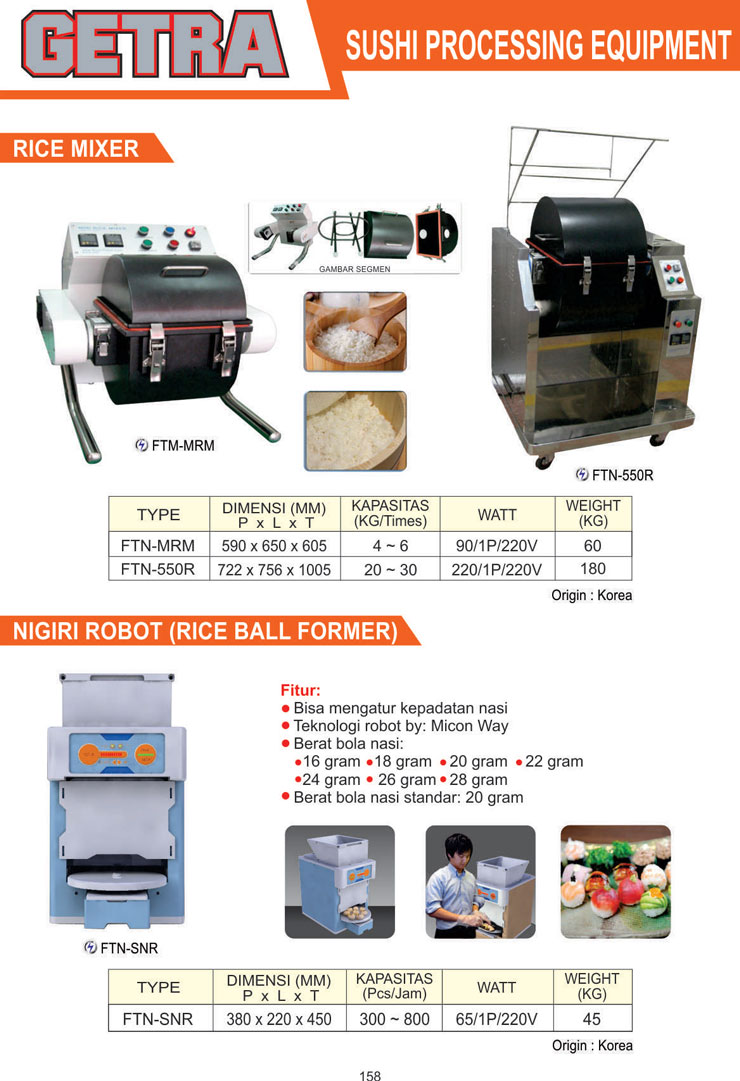 Sushi Processing Equipment